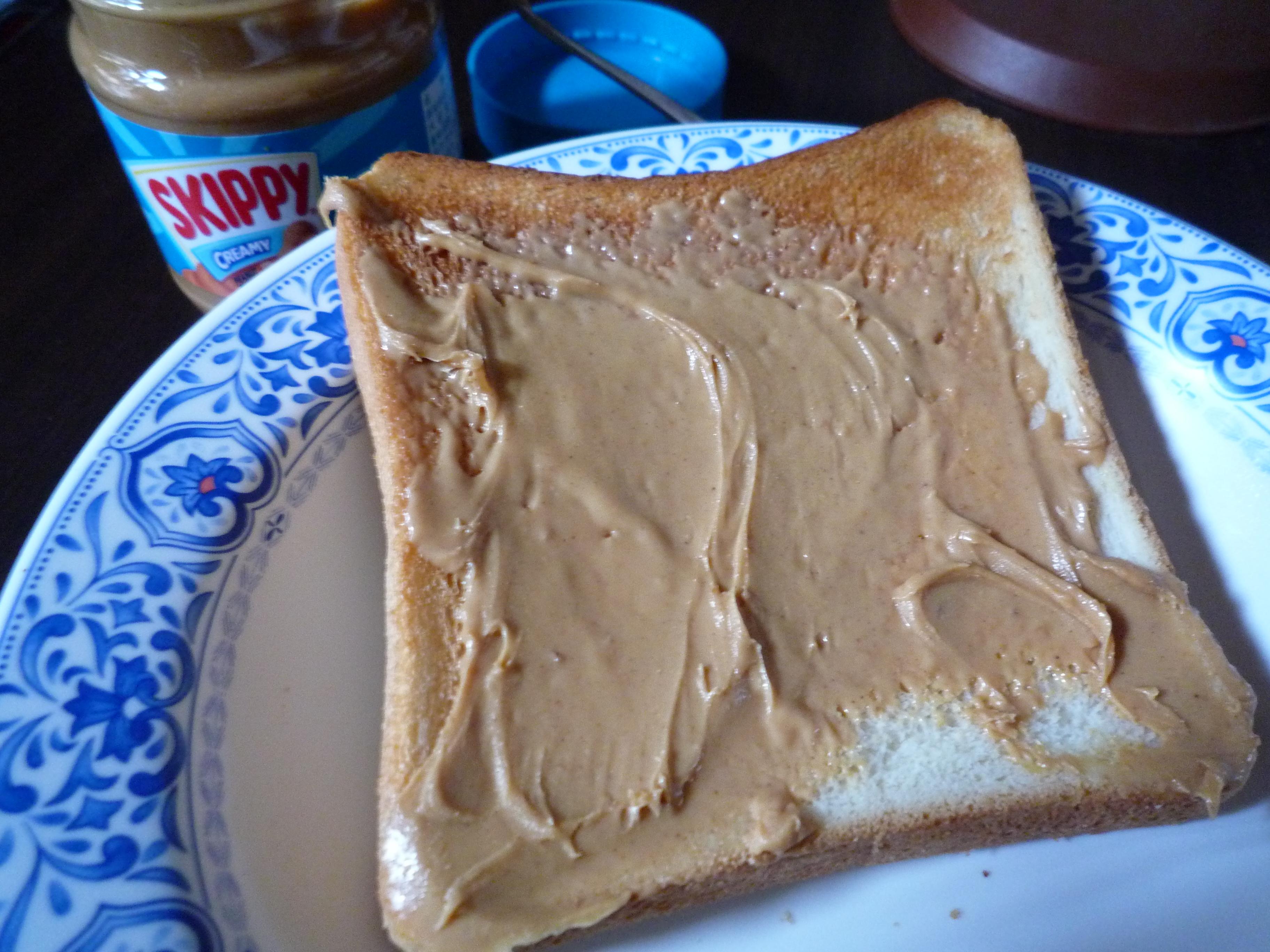 スキッピー クリーミー 食パン