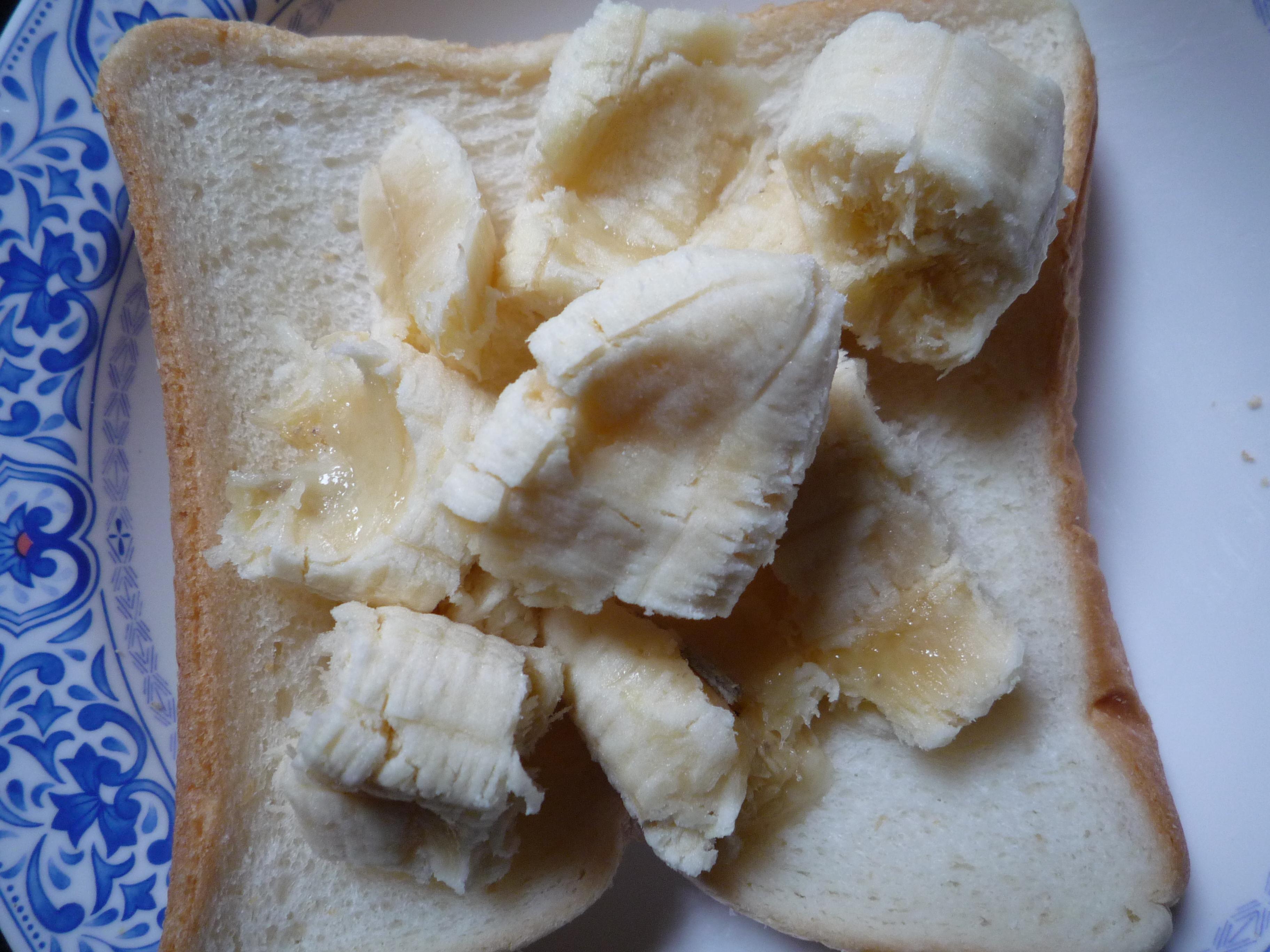 ピーナッツバターとバナナのグリルドサンドイッチ イチゴジャム入り04